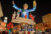VIAREGGIO, ITALY - FEBRUARY 20: allegorical float in honor of — Stock Photo