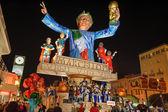 VIAREGGIO, ITALY - FEBRUARY 20: allegorical float in honor of — Stock Photo