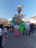 VIAREGGIO, ITALY - FEBRUARY 23:   allegorical float of Beppe Gri — Stock Photo