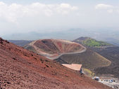 Panorama of a dormant crater of the volcano Etna in Sicily Italy — Stock Photo