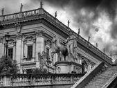 City view of Piazza del Campidoglio Rome Italy — Foto Stock