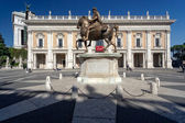 Particular of Piazza del Campidoglio Rome Italy — Stock Photo