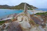 海滩附近别墅西缪斯撒丁岛意大利 — 图库照片