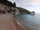 Landscapre pobřeží gargano Apulie Itálie — Stock fotografie