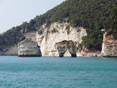 Landscapre of the coast of Gargano Apulia Italy — Stock Photo