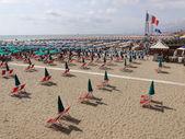 Beach at Viareggio Versilia Italy — Stock Photo
