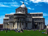 View of Piazza dei Miracoli Pisa — Foto Stock