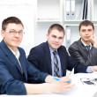 Team of young business men working together at office — Stock Photo #13881477