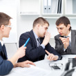 Team of young business men working together at office — Stock Photo #13881502