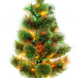 Christmas fir tree isolated on white background — Stock Photo