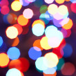Christmas lights out van focus — Stockfoto