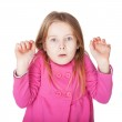 The little girl very surprised — Stock Photo #22173491