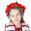 Ukrainian girl in national costume — Foto Stock