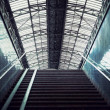 Staircase at a railway station — Stock Photo