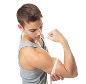 Muscle biceps — Stock Photo