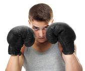 Boxer ready to figh — Stock Photo