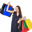 Woman with colorful shopping bags — Stock Photo #42786205