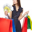 Happy shopping woman — Stock Photo #44254435