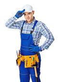 Молодые мужчины строительный рабочий — Стоковое фото