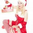 Royalty-Free Stock Photo: Sexy Christmas girl with Christmas decoration