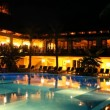 Stock Video: Holiday resort at night
