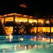 Stock Video: Luxurious holiday resort at night