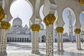 Columns of Sheikh Zayed Mosque — Stock Photo