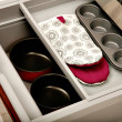 Stock Photo: Kitchen drawer with compartments