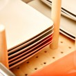 Divider in dish drawer — Stock Photo