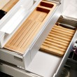 Stock Photo: Modern kitchen drawers