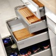 Stock Photo: Elegant kitchen drawers