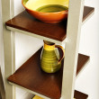 Stock Photo: Kitchen shelves