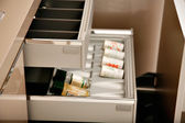 Spice drawers — Stock Photo