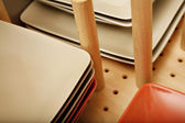 Divider in plate drawer — Stock Photo