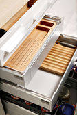 Modern kitchen drawers — Stock Photo