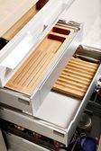 Modern kitchen drawers — Stock Photo