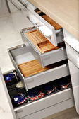 Elegant kitchen drawers — Stock Photo