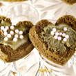 Heart shaped cakes — Stock Photo
