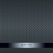 Silver metallic grid background — Vettoriali Stock