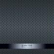 Silver metallic grid background — Stock Vector