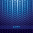 Blue metallic grid background — Stock vektor