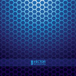 Blue metallic grid background — ストックベクタ