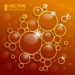 Abstract background with cola water shining circles and bubbles — Stock Vector