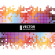 Abstract digital background with colorful pixels equalizer — Stock Vector #30489277