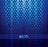 Blue metallic grid background — Stock Vector