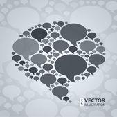 Chat-blase-symbol auf leichten grauen hintergrund. — Stockvektor