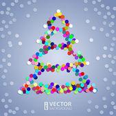 Julgran konfetti bakgrund — Stockvektor