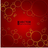 Dark red circles and bubbles abstract vector background — Stock Vector
