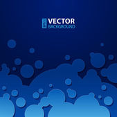 Abstract dark blue background with round bubbles. — Stock Vector