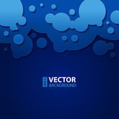 Abstract dark blue background with round bubbles. — Vecteur